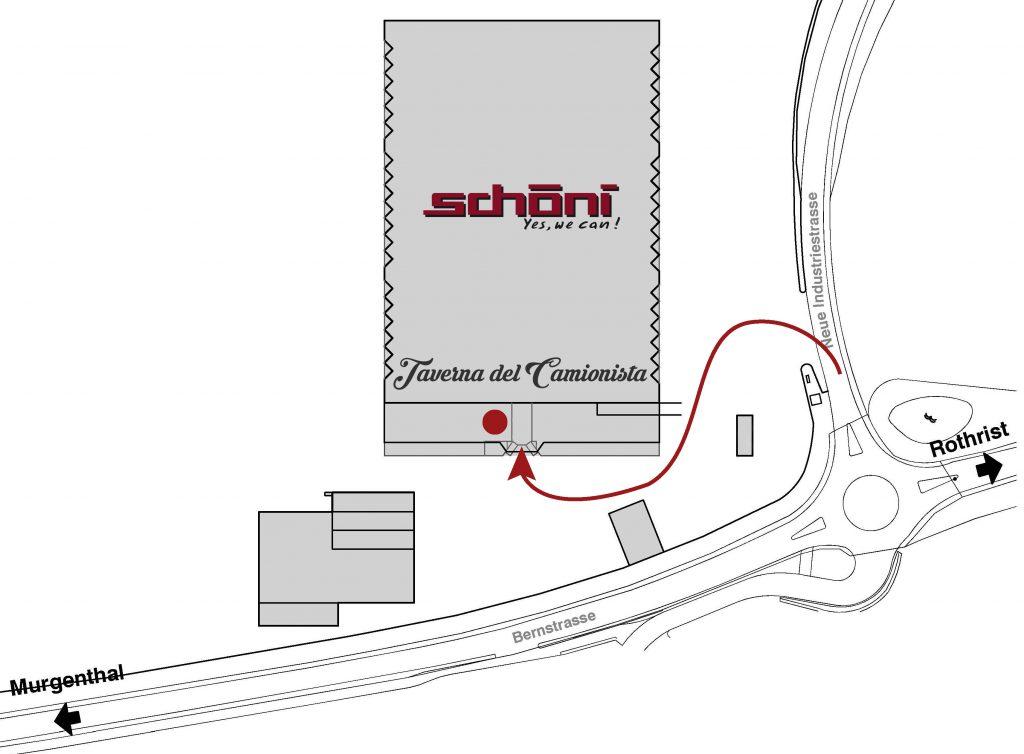 Lageplan Taverna del Camionista Schöni