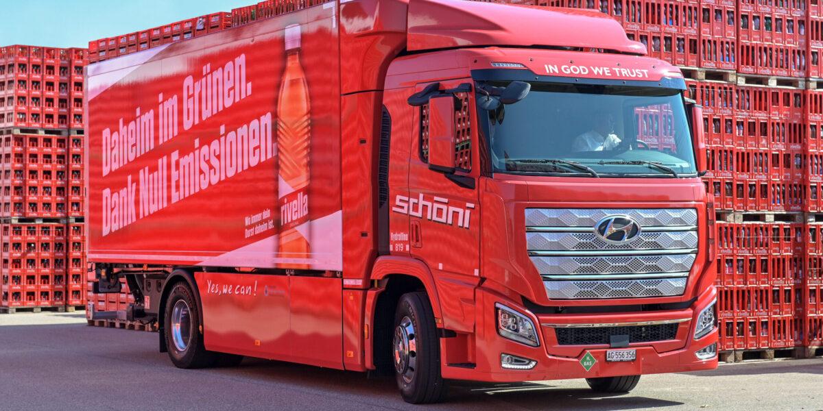 Wasserstoff Lastwagen Schöni transport Rivella