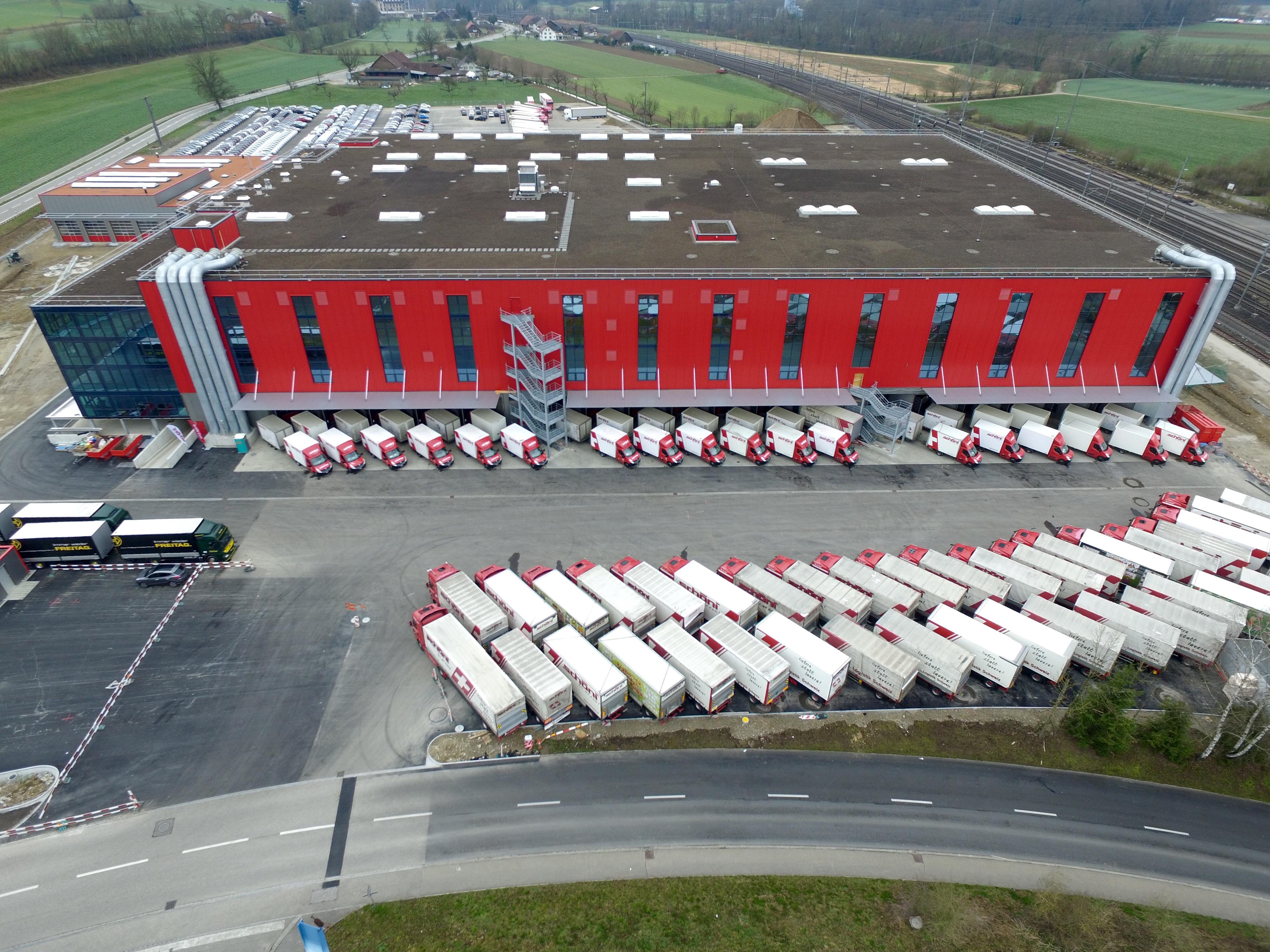 Schöni Transport AG Rothrist Schweiz Luftbild